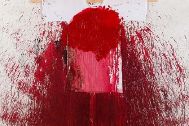 Hermann Nitsch, action painting, 2010