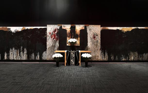 Ausstellungsansicht |Hermann Nitsch Installation |Disturbing Narratives, Parkview Museum in Singapur