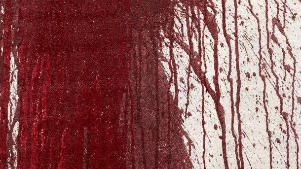 Bilddetail |Hermann Nitsch, Schüttbild, 2012