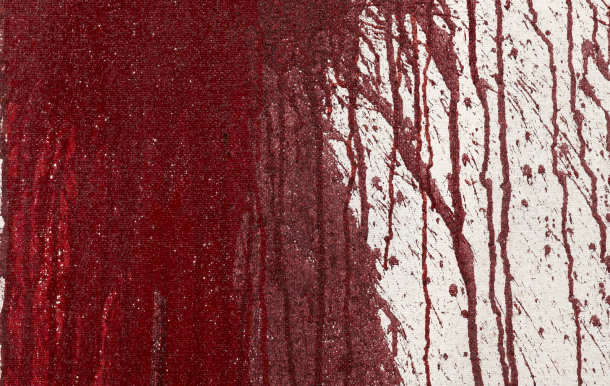 Detail | Hermann Nitsch, action painting, 2012