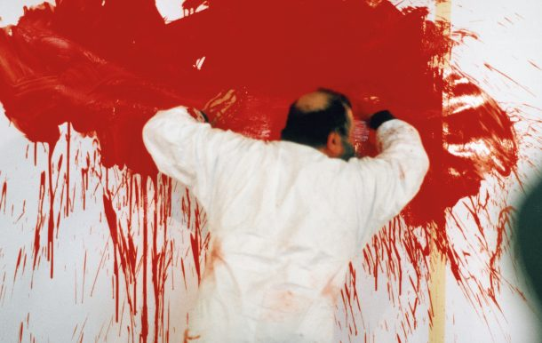 Hermann Nitsch during the 26th painting action