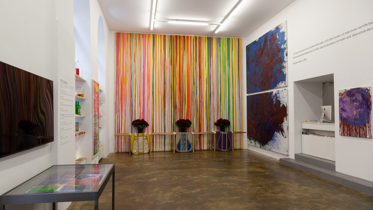 """Exhibition view """"Hermann Nitsch. 88th painting action 